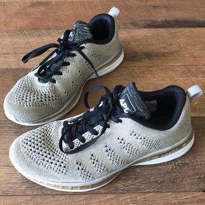 APL propelium shoes gold sneakers Sz 8.5